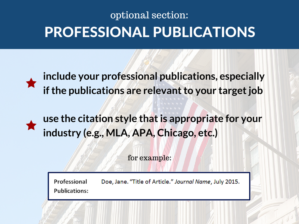 professional publications - What Is Professional Publications In A Resume